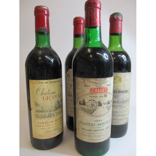 47 - Four mixed bottles to include a 1964 Chateau Montrose...