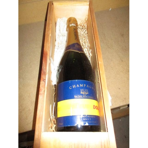 10 - A boxed bottle of Champagne...