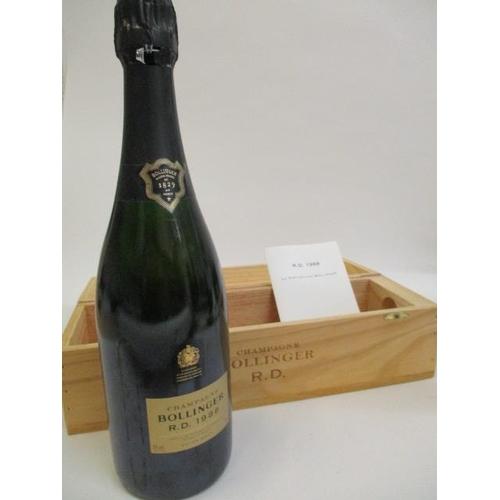 15 - A single cased bottle of Bollinger 1988 Champagne, 75cl...
