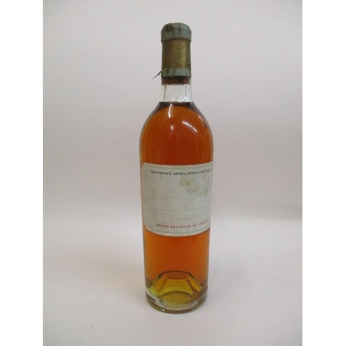 2 - A bottle of Chateau D'Yquem Sauternes 1949...
