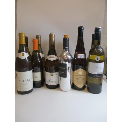 24 - Twelve mixed bottles to include Chablis and Sancerre...