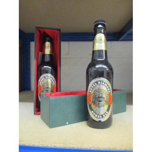 34 - Two boxed bottles of Royal Diamond Dukes Ale...