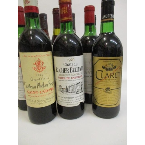 41 - Sixteen mixed bottles of Reds to include Bordeaux and Claret...