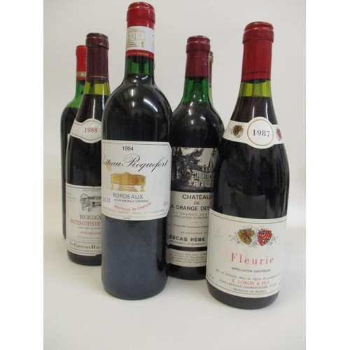 42 - Fifteen mixed reds to include Bordeaux and Feurie...
