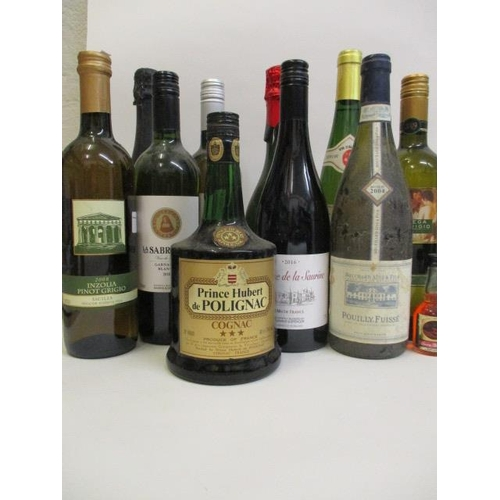 32 - Eleven mixed bottles to include Cognac and Chardonnay...