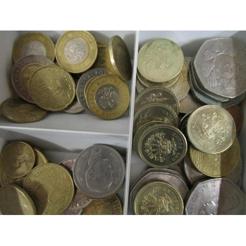15 - A quantity of coinage from around the world to include £1 coins, 50ps and a 1799 penny...