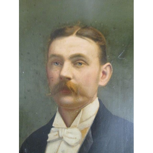 30 - Pictures to include late 19th/early 20th century British School portraits, oil on board...