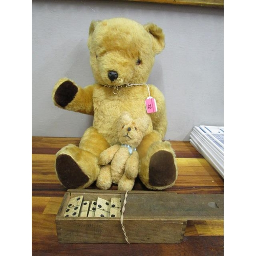 32 - A Real Soft Toys of Watford late 20th century jointed teddy bear, a small early to mid 20th century ...