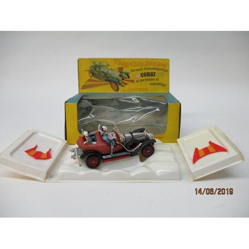 48 - Corgi Toys 266 Chitty Chitty Bang Bang, complete with all characters, back and front wings, original...