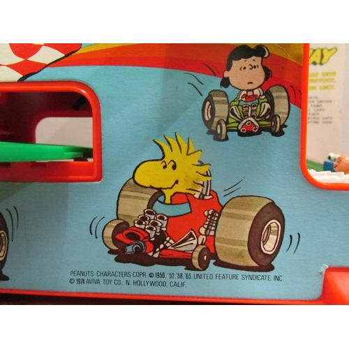 29 - A rare prototype Snoopy Speedway made by Wiggins Teape Toys and Crafts for Aviva Toy Co, circa 1974,...