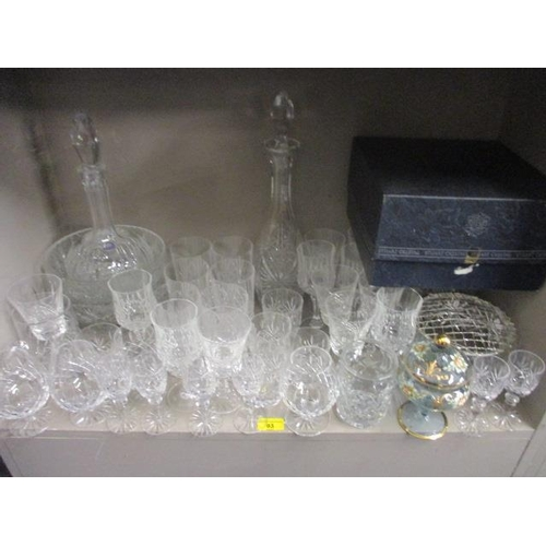 44 - Edinburgh Crystal hi-ball glasses and other cut glass and crystal drinking glasses and tableware to ...