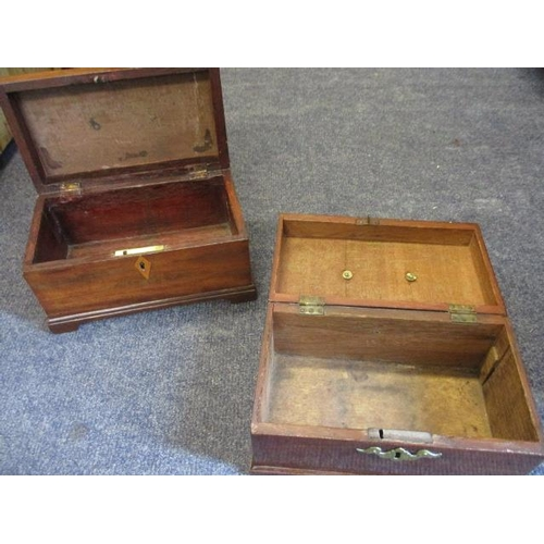 112 - Two 19th century wooden boxes...