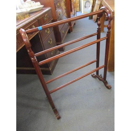 116 - A Victorian mahogany towel rail...