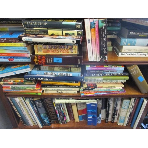 97 - Mixed household books to include nature, gardening and historic reference books...