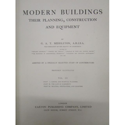138 - Books - S H Brooks Architect - 'Designs for Cottage and Villa Architecture' containing Plans, Elevat...