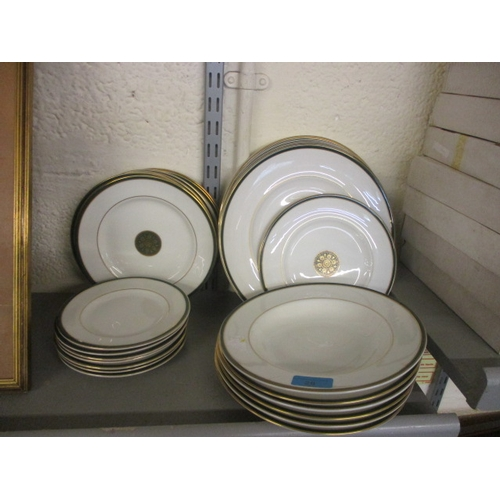 28 - A quantity of late 20th century Royal Doulton Oxford Green plates...