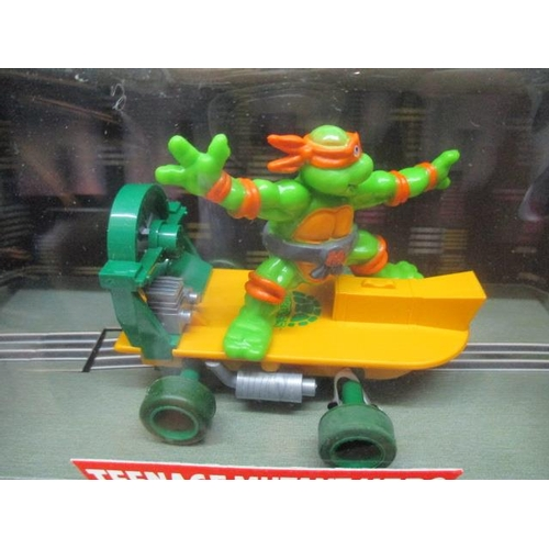 25 - A 1991 complete set of Scalextric Hornby Teenage Mutant Hero Turtles, all boxed, never opened...