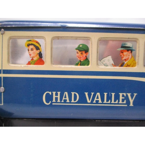 16 - A 1940s/50s Chad Valley clockwork, tinplate blue bus, inscribed No 10005, 4 1/4