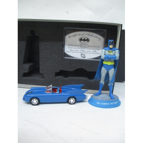 24 - A Corgi Chassis Art Collection, limited edition Batman figure and a car, numbered 1086/1500, worldwi...