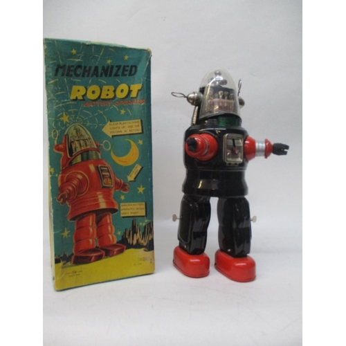 6 - A Japanese Nomura TN tin plate Robby the Robot,  metal toy 13