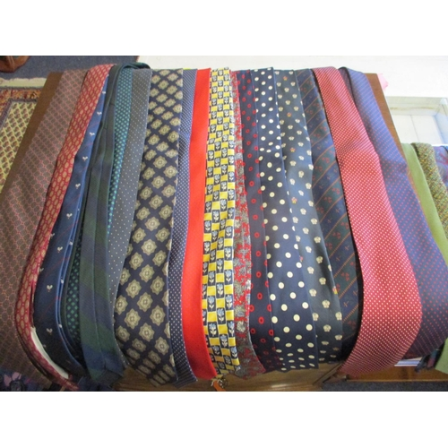 A Quantity Of Vintage And Retro Ties To Include P O Ferries School Ties Harrods Austin Reed And