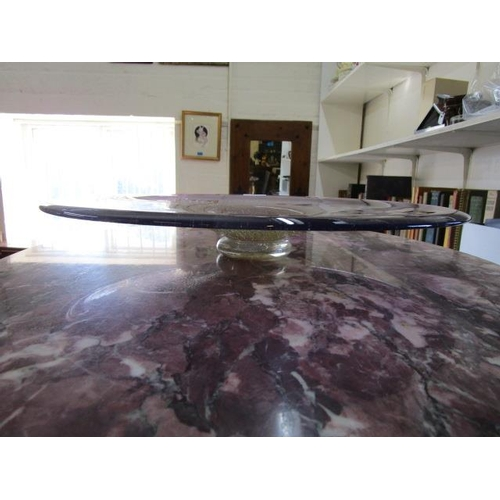 10 - Paul Willsea and Carol O'Brien - Willsea O'Brien Glass (American studio glass) - an amethyst blown g...
