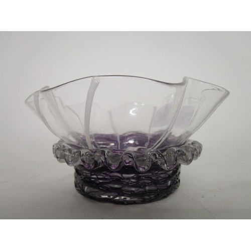 15 - An early 20th century Stourbridge glass preserve bowl, possibly Stevens and Williams, of circular se...