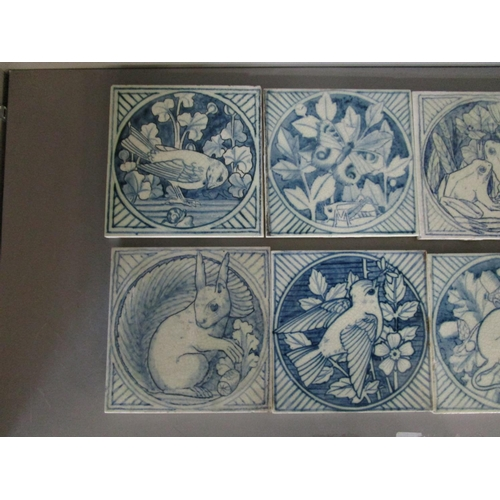 47 - Minton's Kensington Gore Art Pottery Studio - a group of ten aesthetic style Victorian blue and whit...