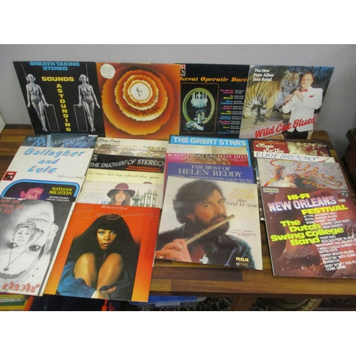 46 - Pop, jazz, easy listening records and LPs to include Aretha Franklin, Breath Taking Stereo, Carly Si...