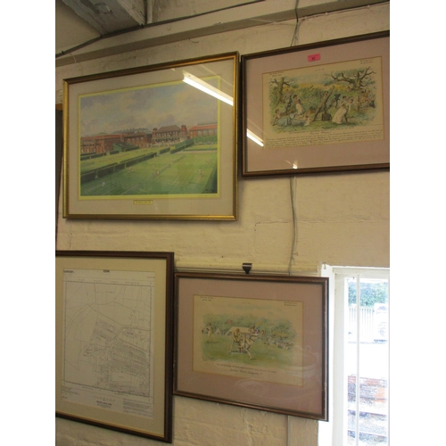 48 - Julia Barrow - The Queens Club 1986, limited edition print, signed lower right hand corner, together...