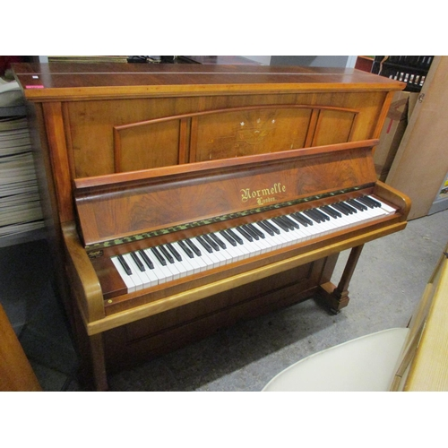 50 - A Normelle, London walnut cased upright piano, 49