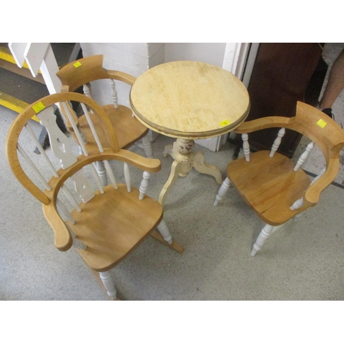 12 - Two child's chairs, a rocking chair and an occasional table...