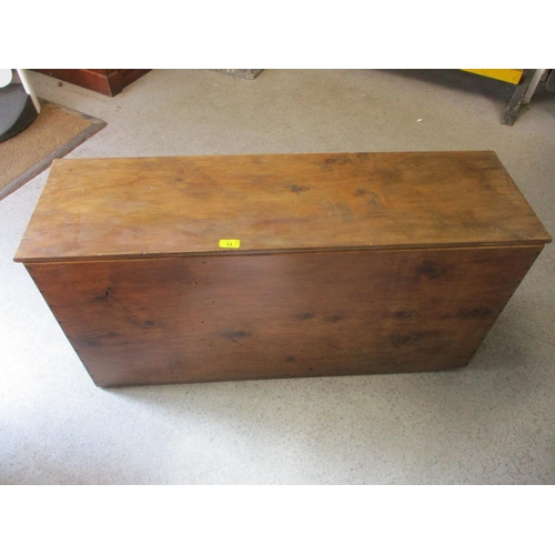 13 - A Victorian pine storage box with twin carrying handles...