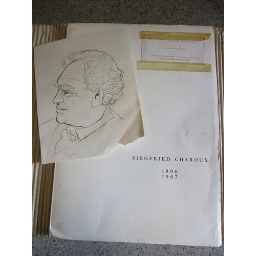 20 - Siegfried Charoyd Austrian 1896 1967 - a signed portrait, together with a catalogue of his works...