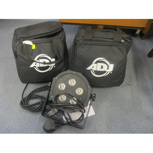 8 - A pair of ADJ Vpar Pak disco lights...