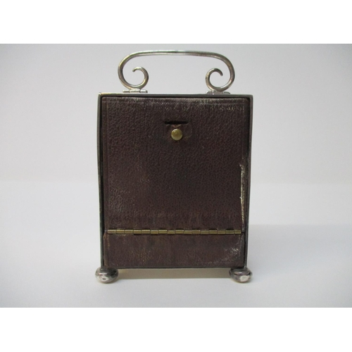 1 - A silver cased dressing table/travelling clock by C and C Chester, possibly 1916, 8 day Swiss moveme...