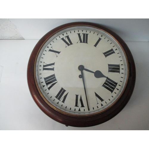 11 - A 19th century oak cased wall clock with single fusee movement having 11
