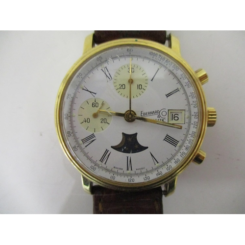 20 - A gents Eberhard & Co Tachymeter 1980s Chronograph Swiss Anniversary Edition wristwatch with automat...