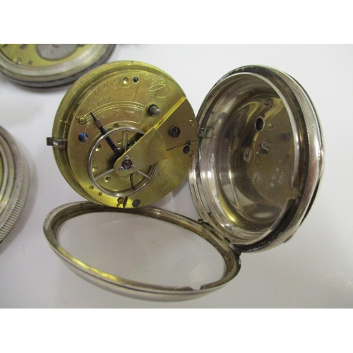 23 - Two silver pocket watches to include a silver open faced pocket watch, signed Charles Fenn Whitstabl...