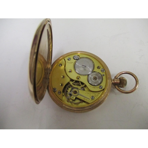26 - An early 20th century, open faced 9ct gold cased pocket watch, the dial signed W A Perry & Co, 38 Ne...