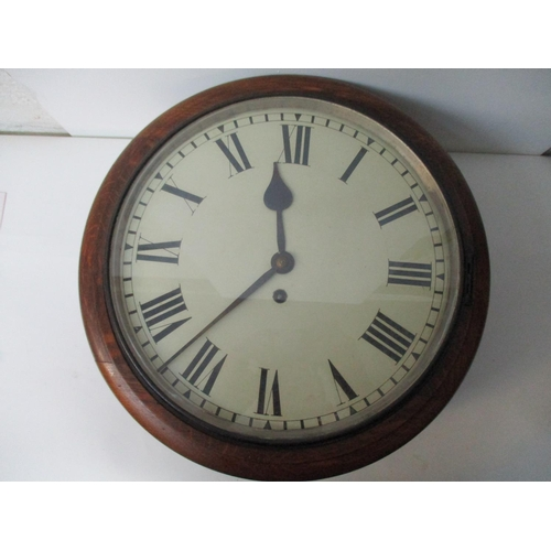 7 - A 19th century oak cased wall clock with single fusee movement, having 11