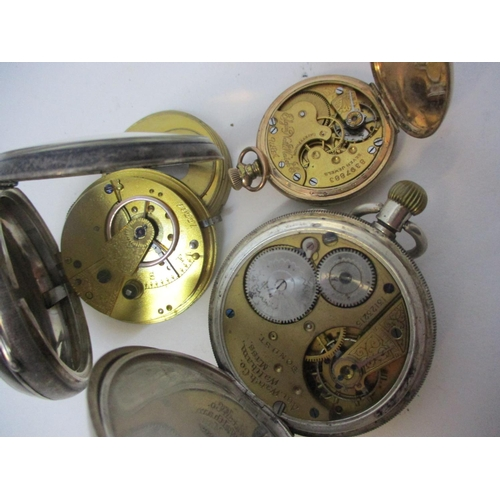 48 - Three watches to include a late 19th century silver cased pocket watch, the movement inscribed W H N...