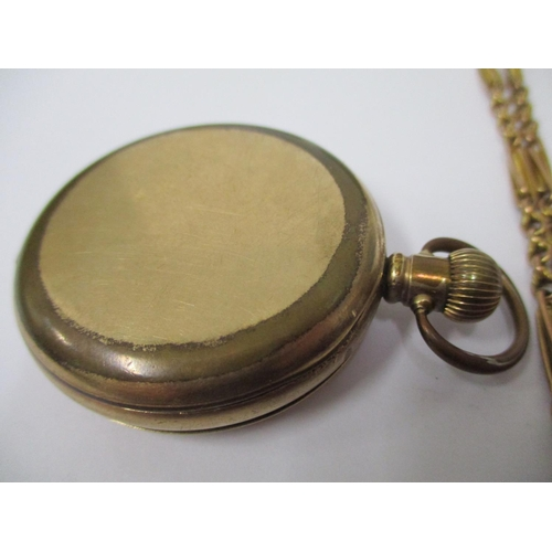 68 - A Waltham & Co full hunter pocket watch with white enamel dial, Roman numerals and subsidiary second...