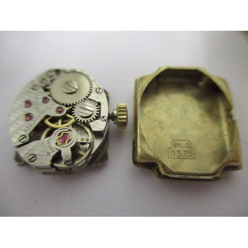 76 - A ladies Ansonia 9ct gold bracelet watch with Swiss movement, 17 jewels, Champagne coloured dial, ho...