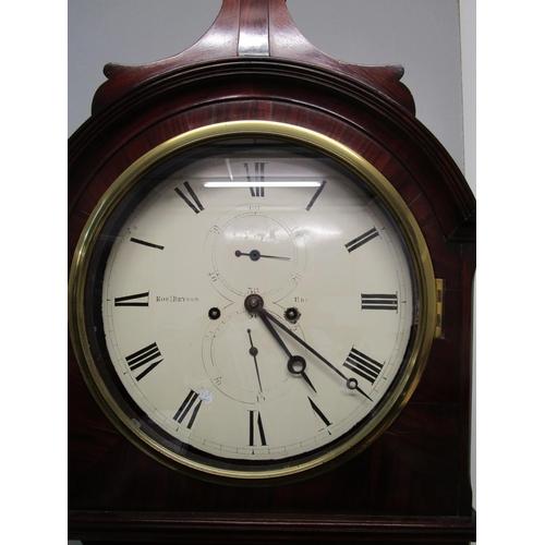 54 - A fine early 19th century 8 day, mahogany cased Scottish longcase clock, signed Robert Bryson, Edinb...