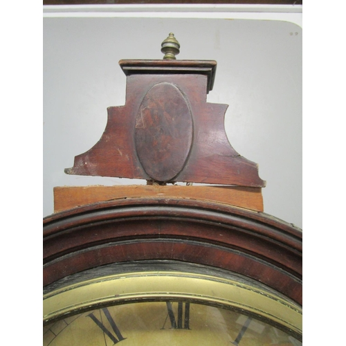 82 - An early 19th century 8-day mahogany long case clock, the circular dial having Roman numerals and su...