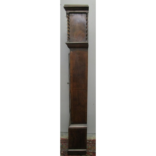 84 - A Victorian Granddaughter clock in the style of an early 18th century long case clock. The case havi...