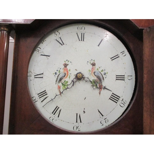 85 - A George III mahogany cased 30-hour long case clock, the circular dial having Roman and Arabic numer...