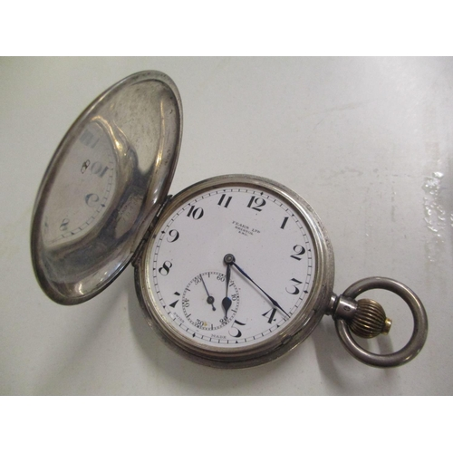 93 - An early 20th century silver cased pocket watch, the white enamel dial signed Pears Ltd, Bristol, En...