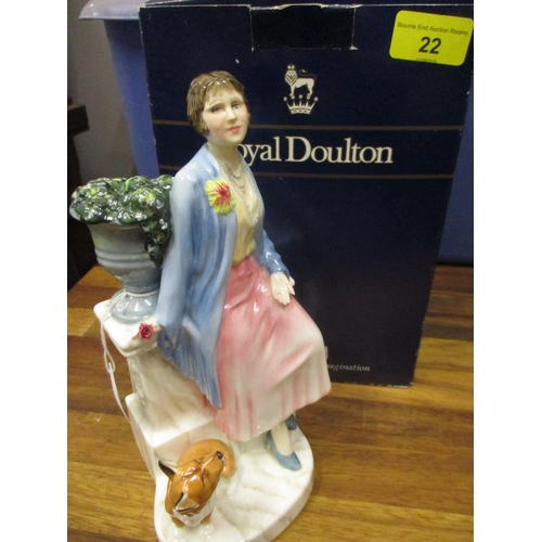 22 - Queen Elizabeth the Queen Mother as the Duchess of York, A Royal Doulton limited edition figurine HN...